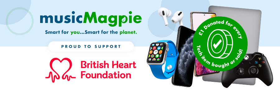 musicMagpie & British Heart Foundation Banner