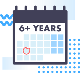 6+ years.