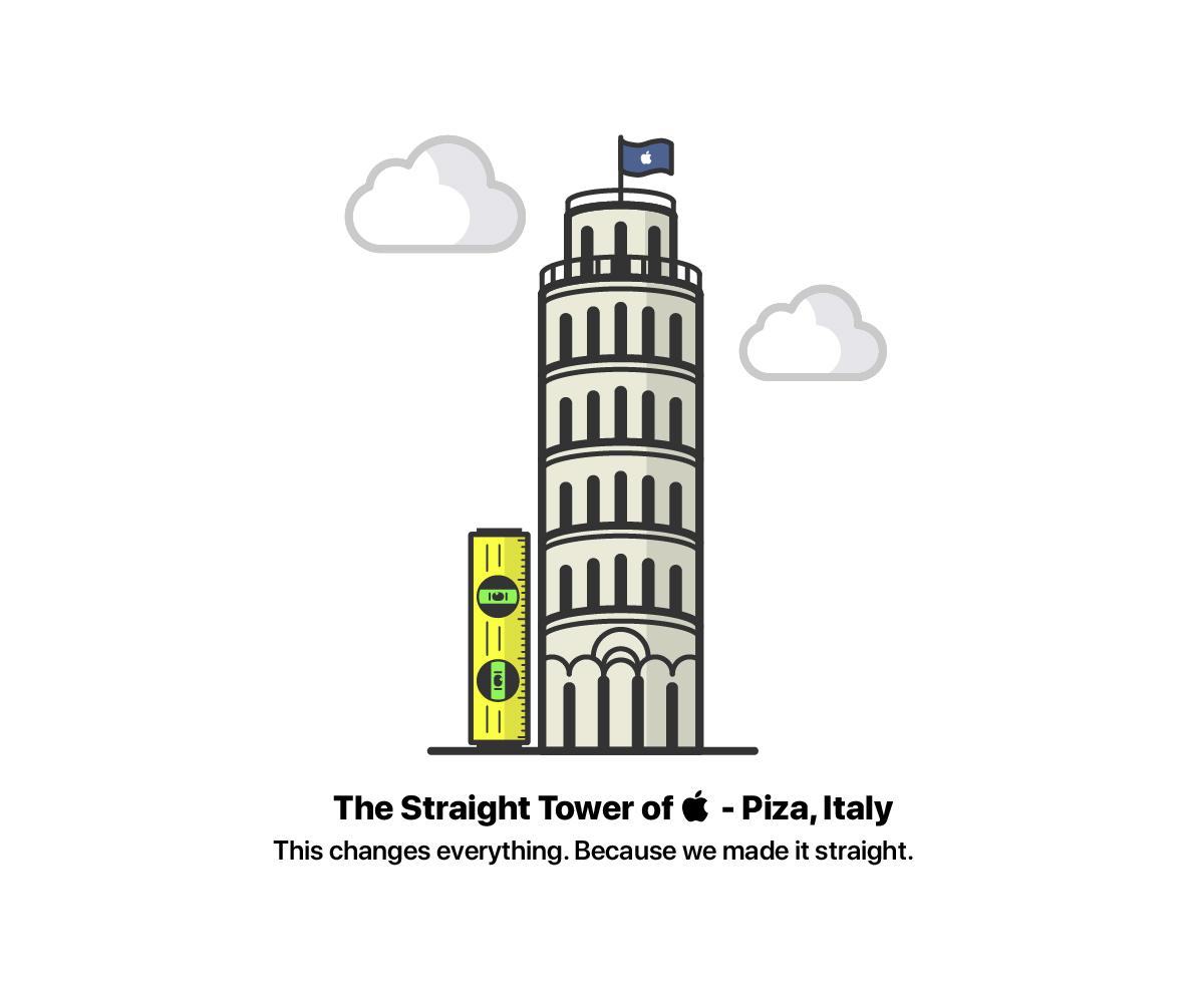 Straight Tower of Apple