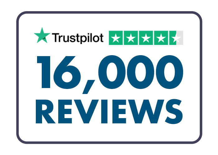 Over 14,000 reviews on Trustpilot