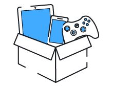 2. Pack your items into a box & attach your shipping label.