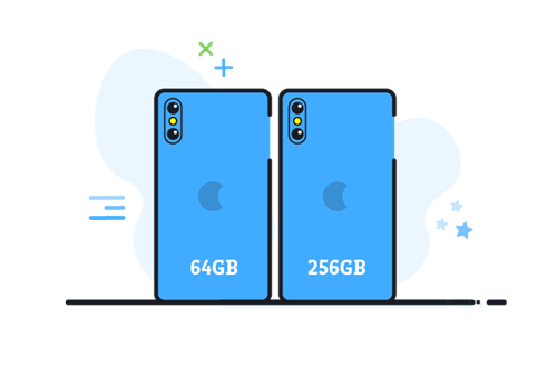 Consider the storage of the phone