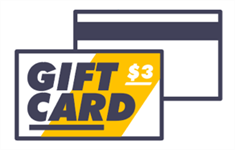 Gift card with a $3 balance