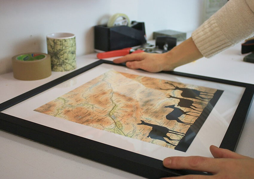 Atlas and I hand made maps
