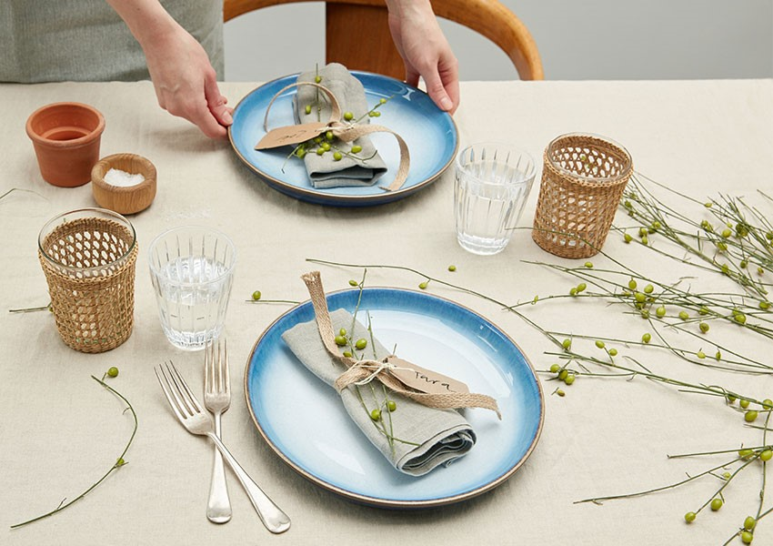 Simple table layout with Denby conscious living collection