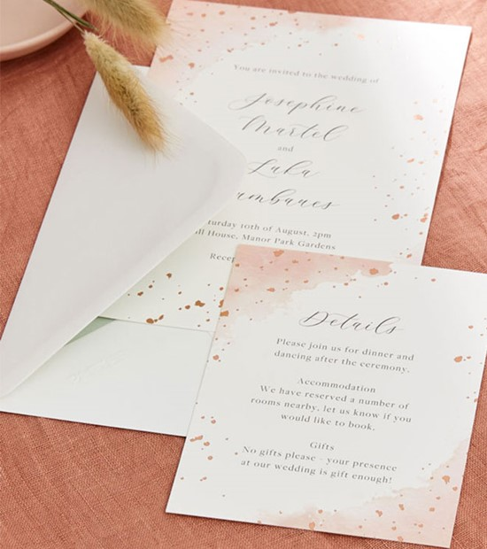 papier wedding stationery orange theme