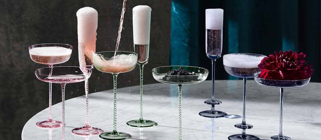 stunning champagne coupes unique wedding gift