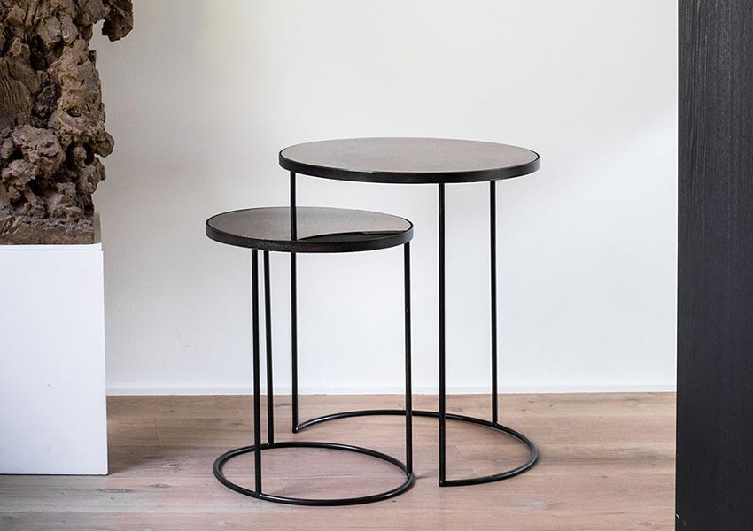Unique wedding gift nesting tables