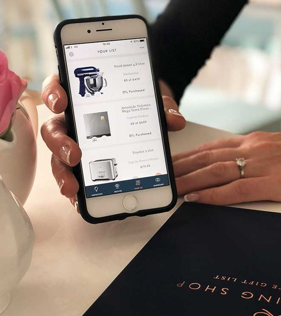 be inspired with the wedding shop gift list app
