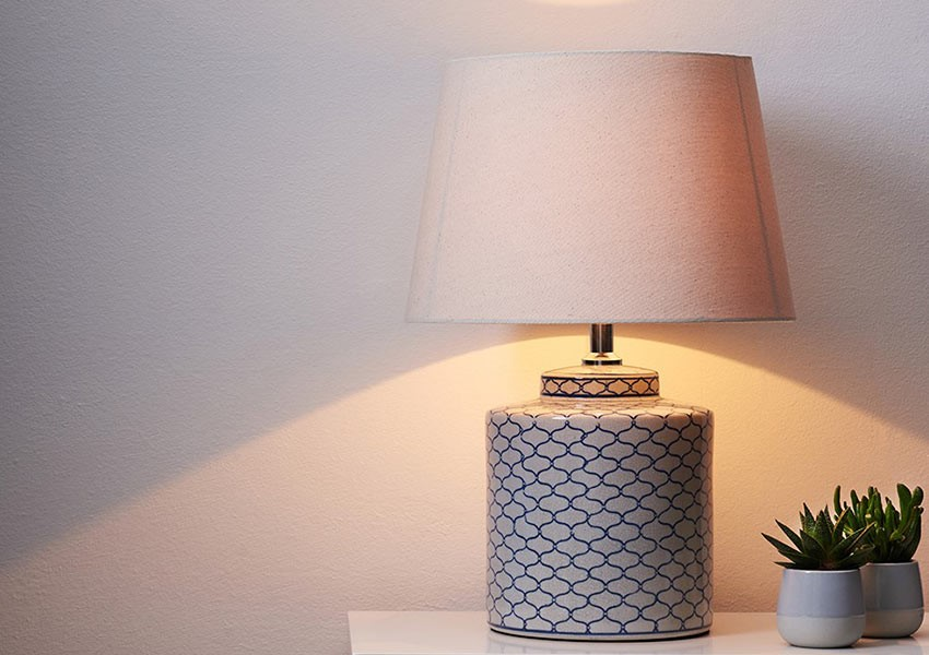Wedding Present Idea - Hand Painted Lamp