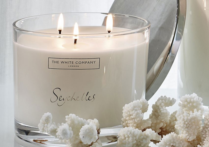 White Company Seychelles 3 wick candle