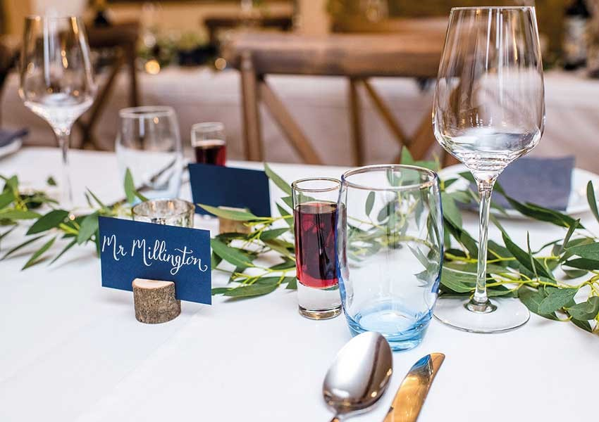 Wedding day tablescape