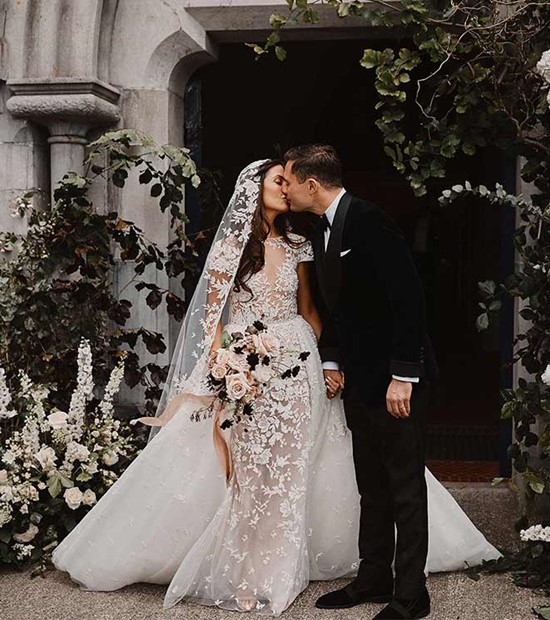Irish Castle Wedding With Wedding Dress byZuhair Murad