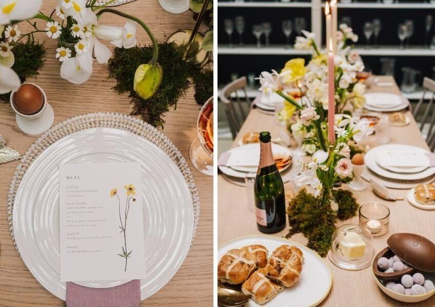 Easter tablescaping ideas - wedding gift list
