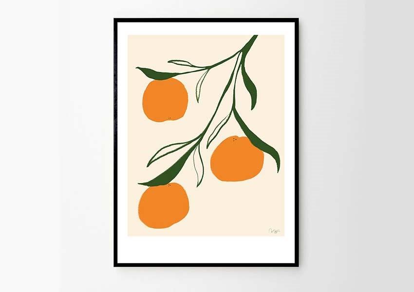 The Poster Club - Orange Art Print