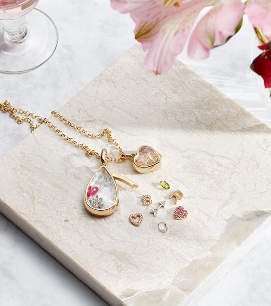 gold locket chain and jewels