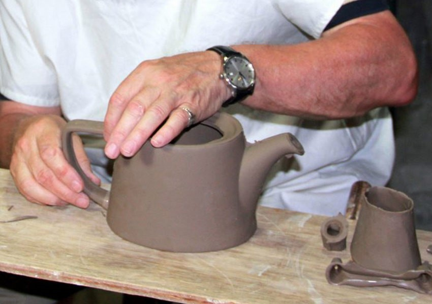 London Pottery tea pot throwing