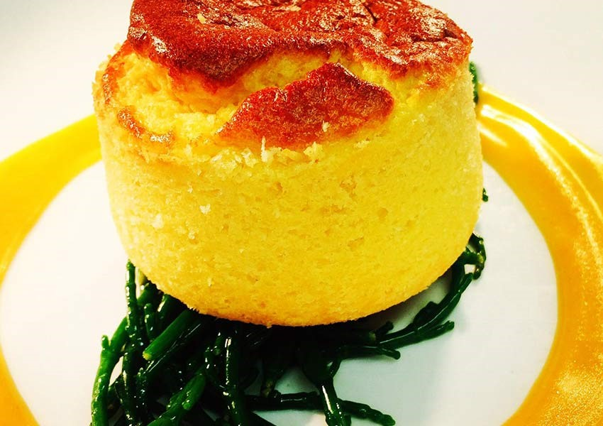 Lobster Soufflé, Samphire & Lobster Bisque