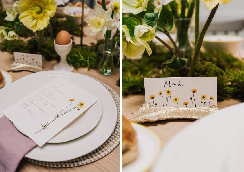 wedding day stationery Easter theme